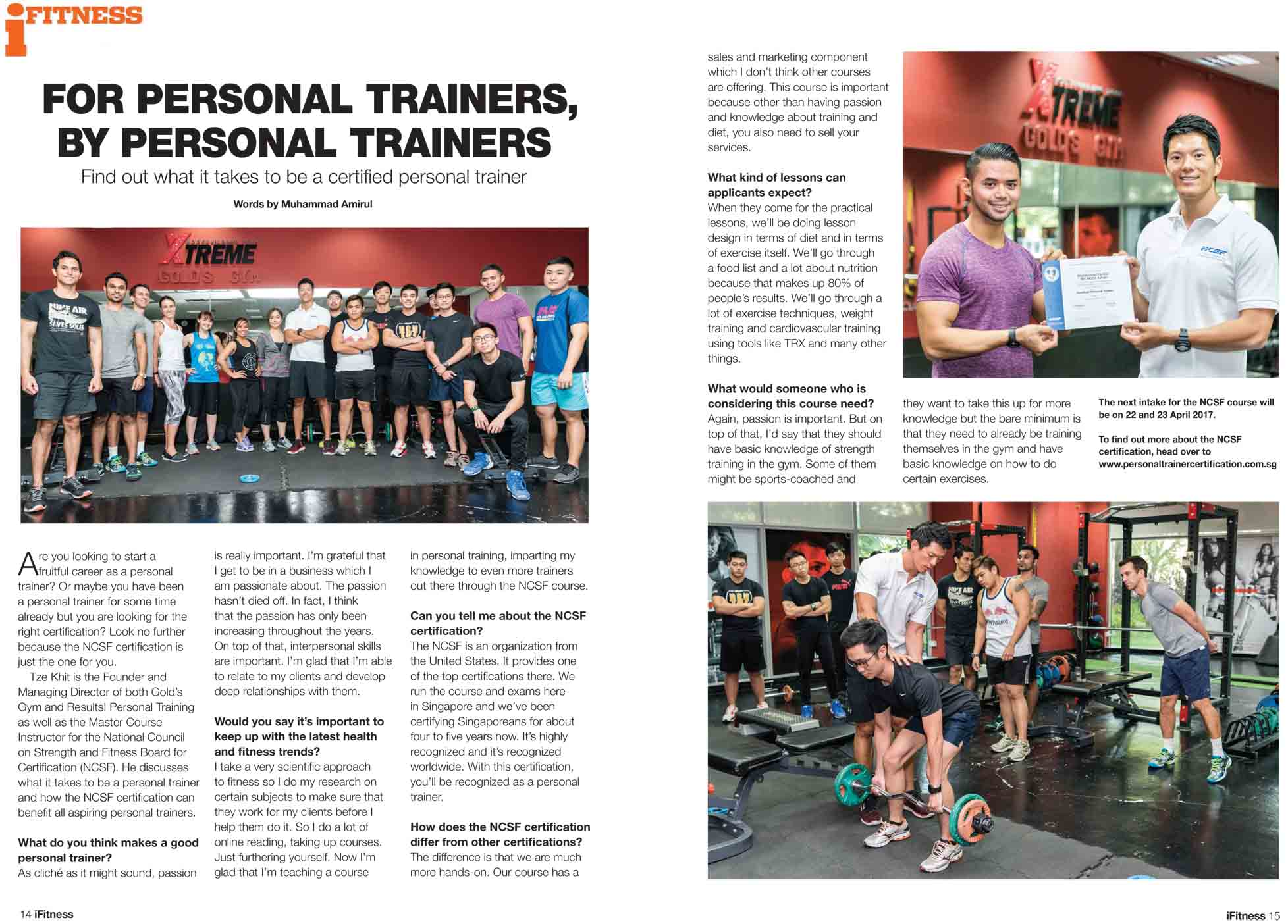Media Coverage Press Releases Golds Gym Personal Training